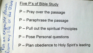 The 5 P's of Bible Study