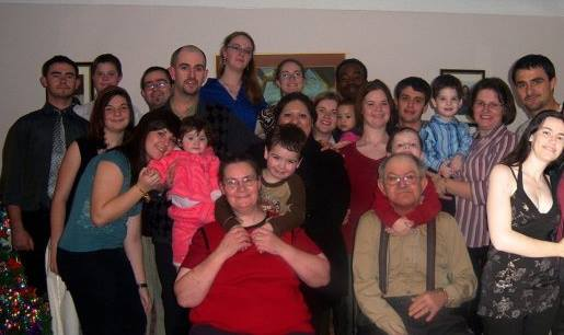 The family, about eight years ago.