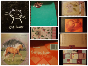 A collage of notebooks from my past.