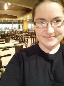 Work selfie from Valintines. Love the cozy environment.